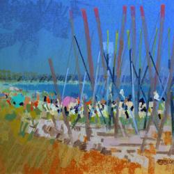 « La plage du Teven - 50x65cm »