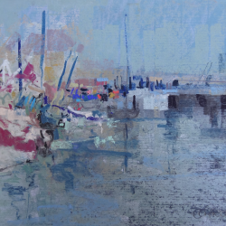« Port en Bessin - 24x32 cm »