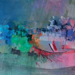 « Port de Ouistreham » - 80 x 120 cm