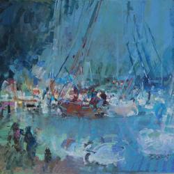 « Port de Plaisance à Ouistreham - 65x50 cm »