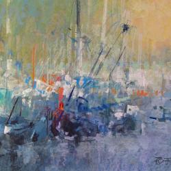 « Port de l'Ouistreham - 50x65 cm »