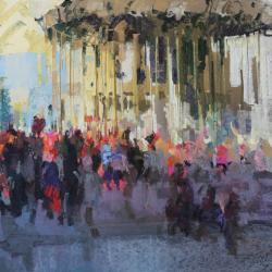 « Manège à Fontainebleau - 50 x 65 cm »