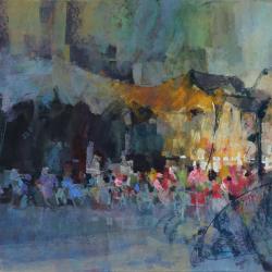« Terrasse à Fontainebleau - 65x50 cm »