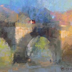 « Le pont de Saurier - 30 x 40 cm »