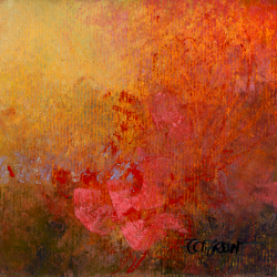 « Fleurs Rouges - 12x12 cm »