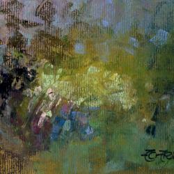 « Jardin à Tramerolles - 12x20 cm »