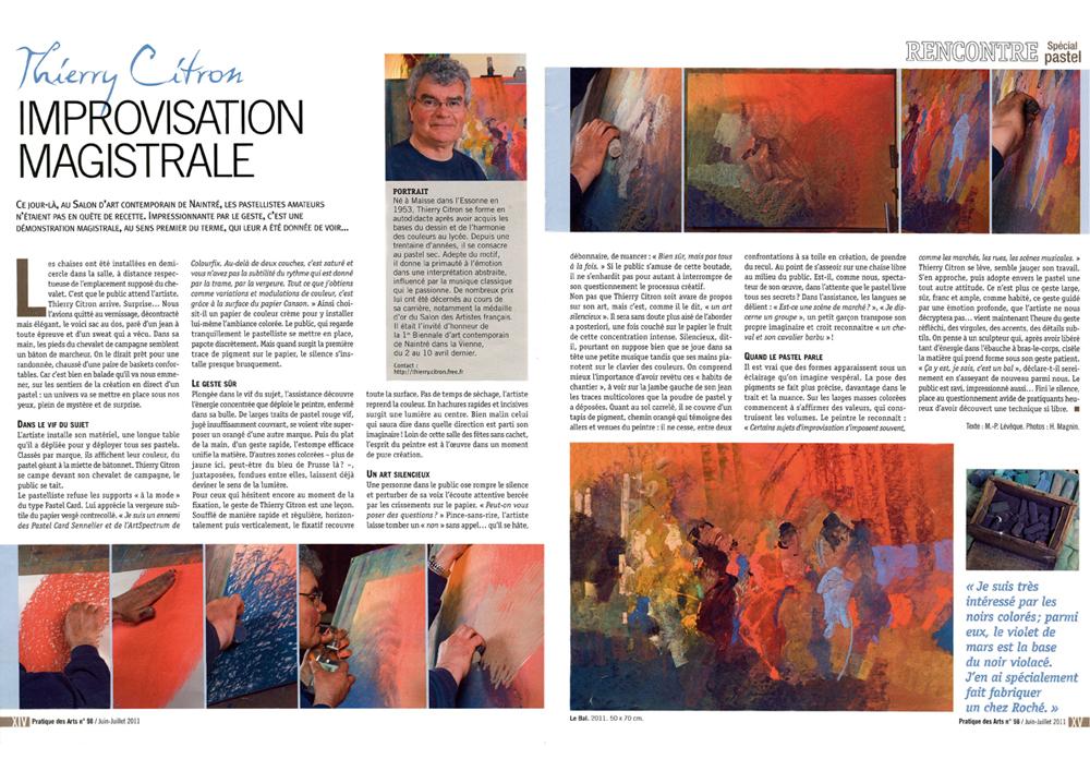 pratique-des-arts-special-pastel-numero-4-juin-juillet-2011-thierry-citron